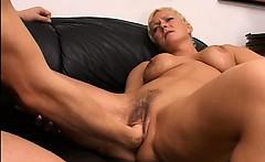 Blonde mature having hole fisted hard