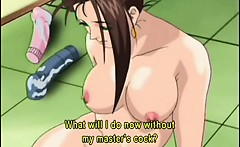 Hentai teacher dildoing ass and pussy in the class