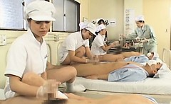 Japanese nurses fucking their excited patients