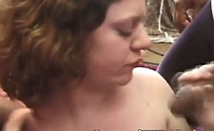 Pregnant mom does two for money