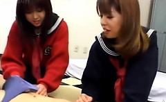 Japanese FFM threesome in home room