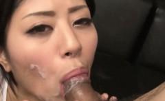 Facialized cock sucking asian girl
