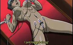 Bondage hentai girl muscular gets electric shock and mouth f