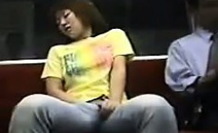 Japanese Girl Masturbating On The Subway