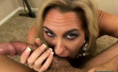 Busty mature housewife in office pov bj