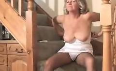 Mature Woman In Pantyhose Masturbates