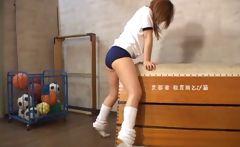 Cute Japanese Schoolgirl Enjoys