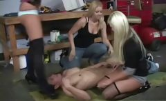 Face sitting femdom sluts get wild and sit on some faces