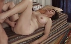 Hairy granny slit fucked by pro