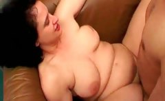 Awesome group sex scene where a slender
