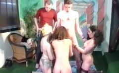 Gangbang Orgy With Three Horny Chick