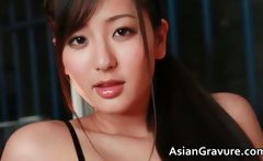 Incredible sexya real asian model posing