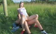 Brutal teens anal outdoor sex