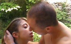 Sexy babe takes cock anal french and sucks it good