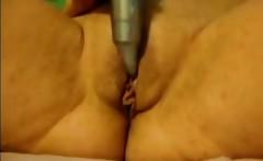 Home orgasm Granny Christine 59 years