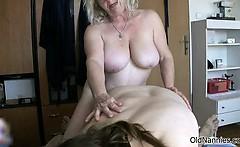 Nasty old women go crazy sucking