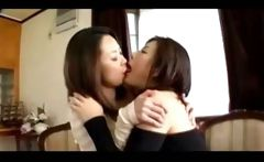 2 Hot Asian Lesbian French Kiss