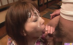 Minami Kitagawas foursome ends in an asian cum facial