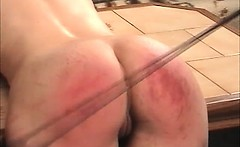 Dirty brunette hoe gets spanked hard